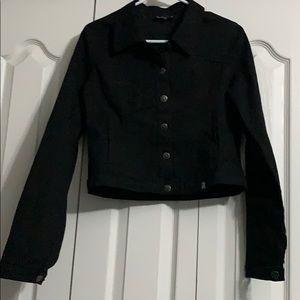 Sourpuss clothing crop black denim jacket
